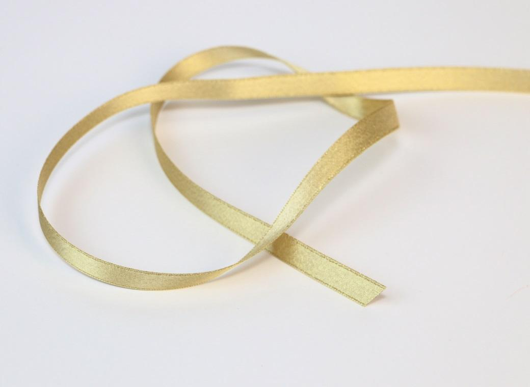 Satin Ribbon - Gold 9mm