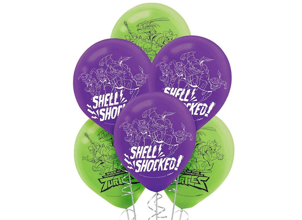 Rise of the TMNT Balloons 6pk