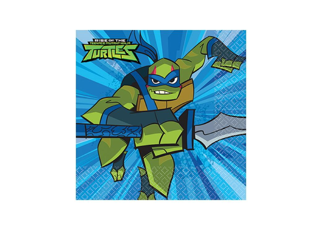 Rise of the TMNT Beverage Napkins 16pk