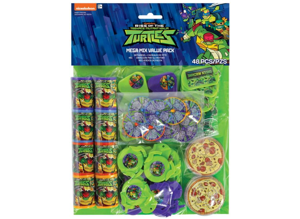 Rise of the TMNT Mega 48pce Favour Pack