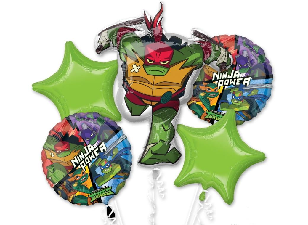 Rise of the TMNT Foil Balloon Bouquet