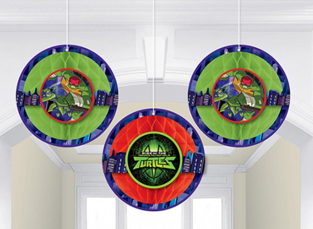 Rise of the TMNT Honeycomb Hanging Decorations
