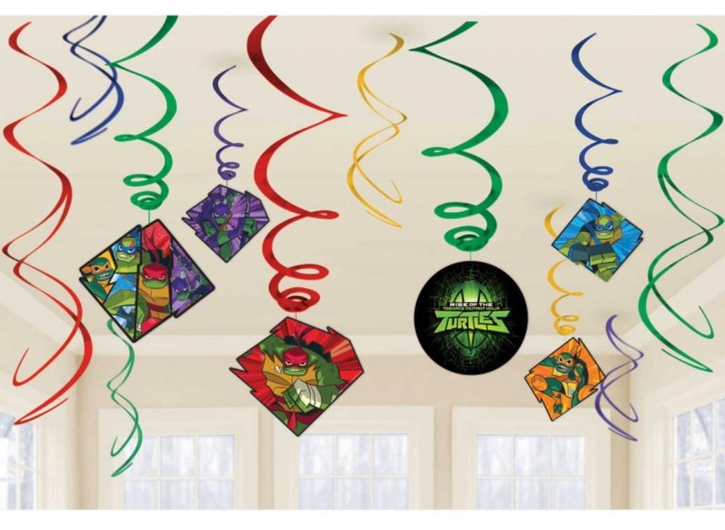 Rise of the TMNT Hanging Swirl Decorations