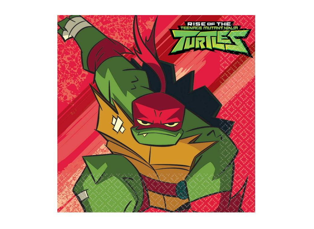 Rise of the TMNT Lunch Napkins 16pk
