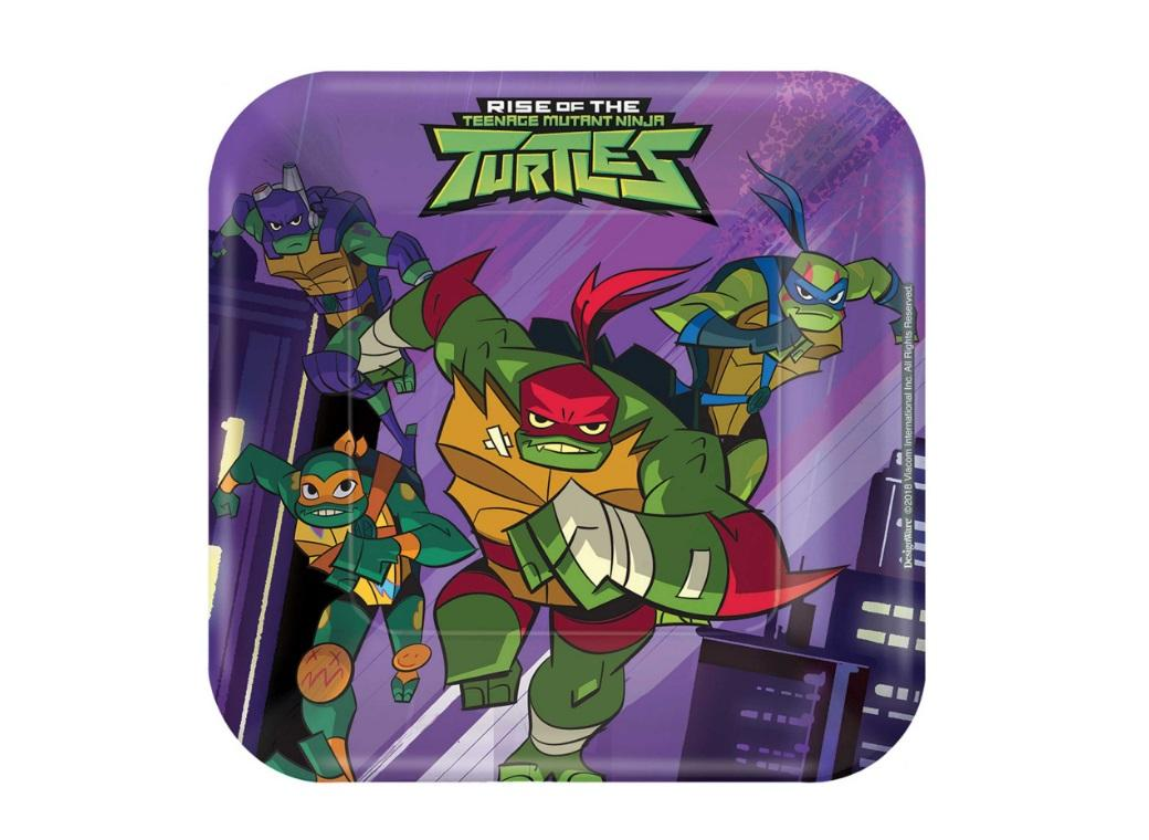Rise of the TMNT Lunch Plates 8pk