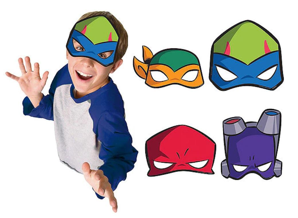 Rise of the TMNT Masks 8pk