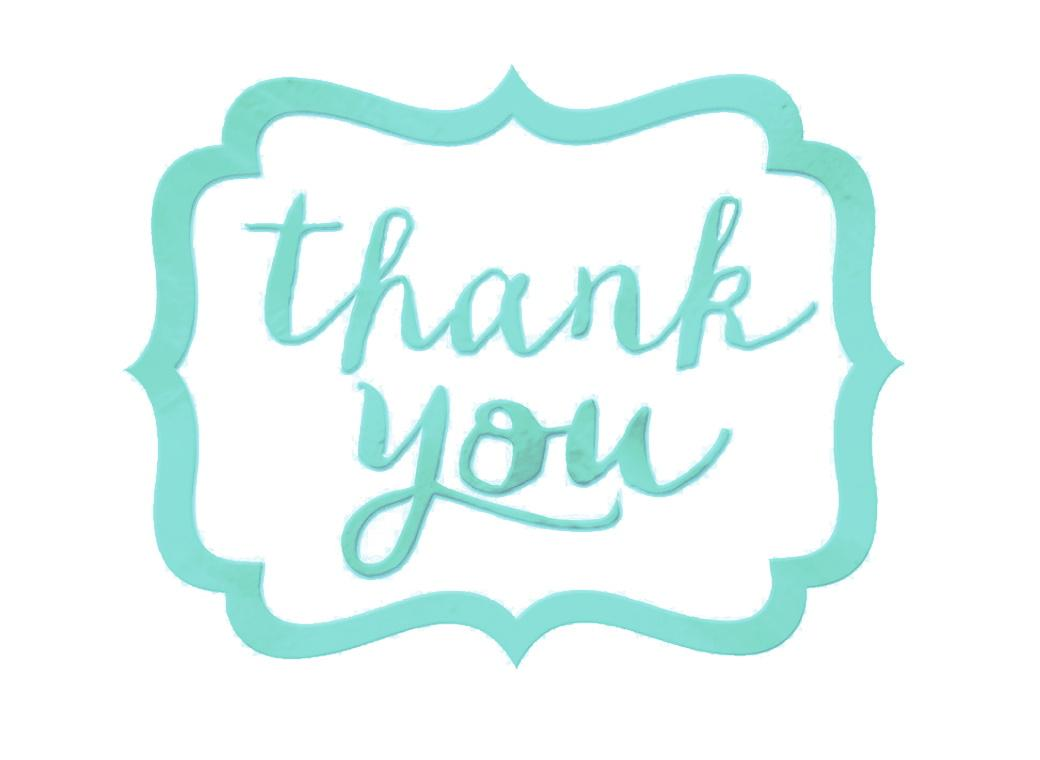Thank You Stickers 50pk - Robins Egg Blue