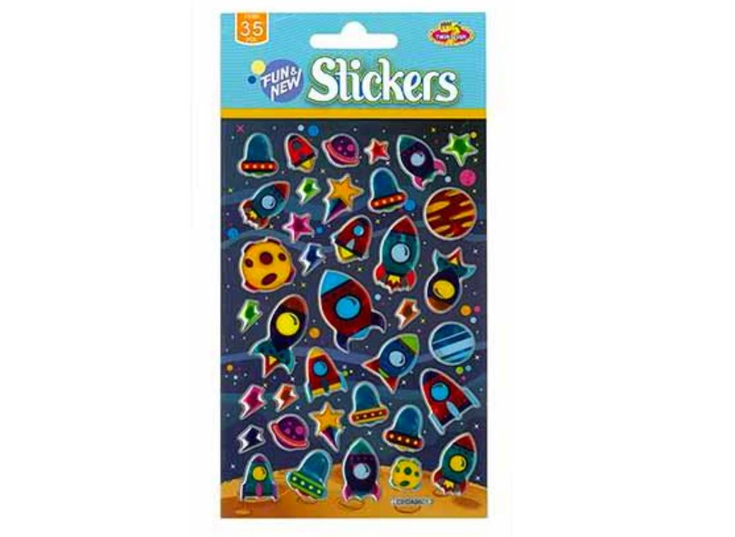 Rockets & Planets Stickers