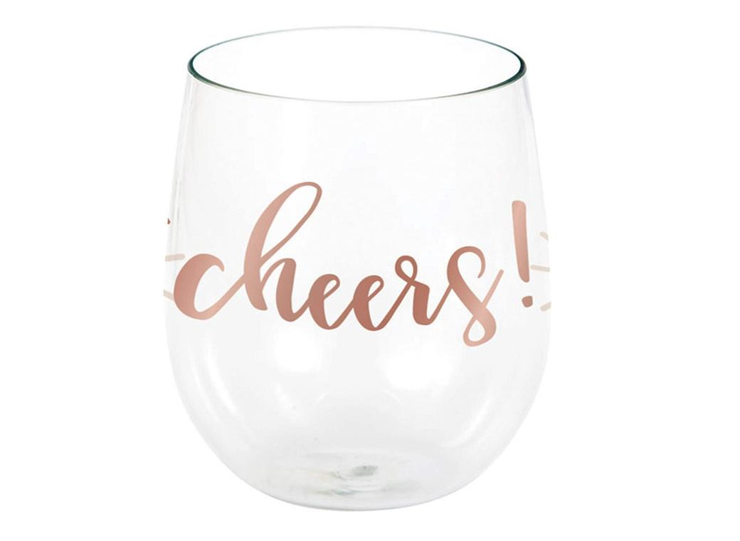 Rosé All Day Cheers Plastic Wine Glass