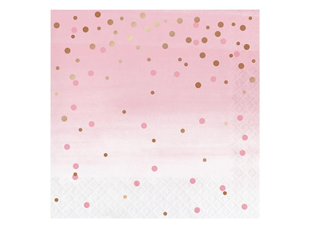 Rosé All Day Dots Lunch Napkins 16pk