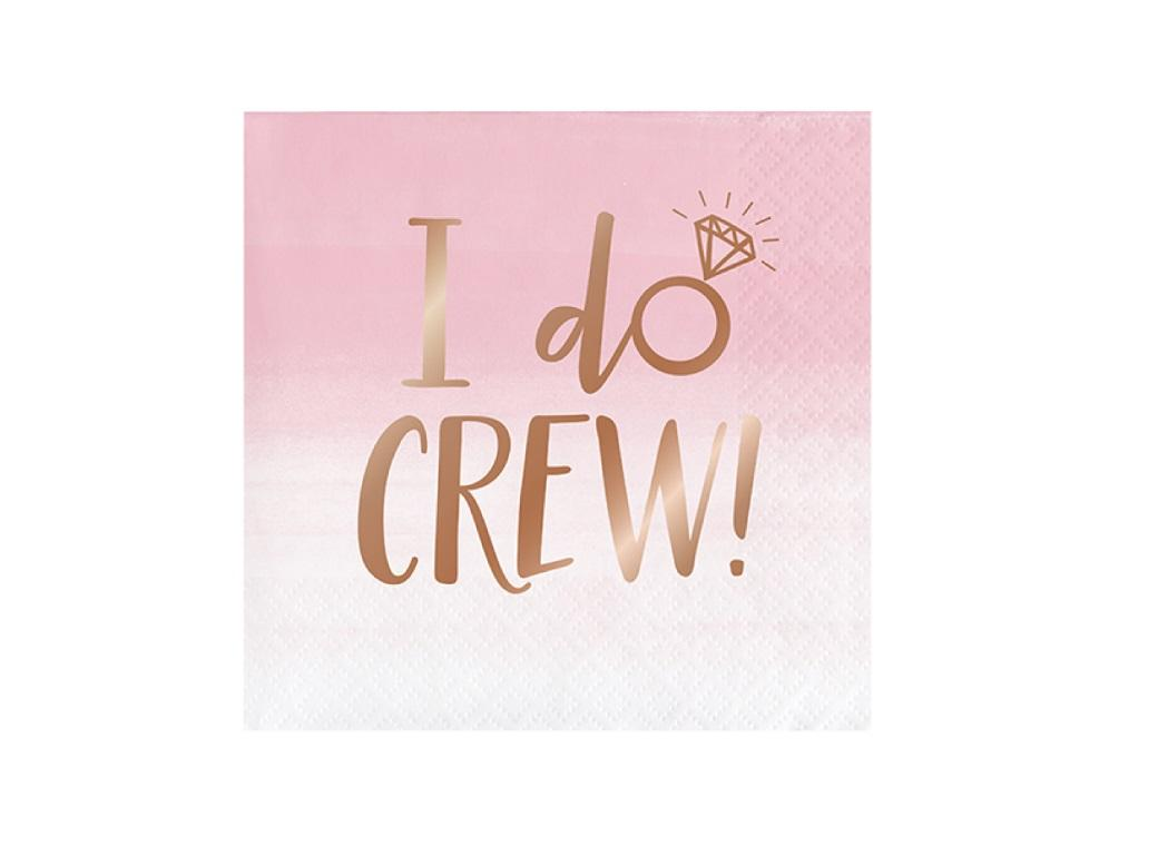 Rosé All Day I Do Crew Beverage Napkins 16pk