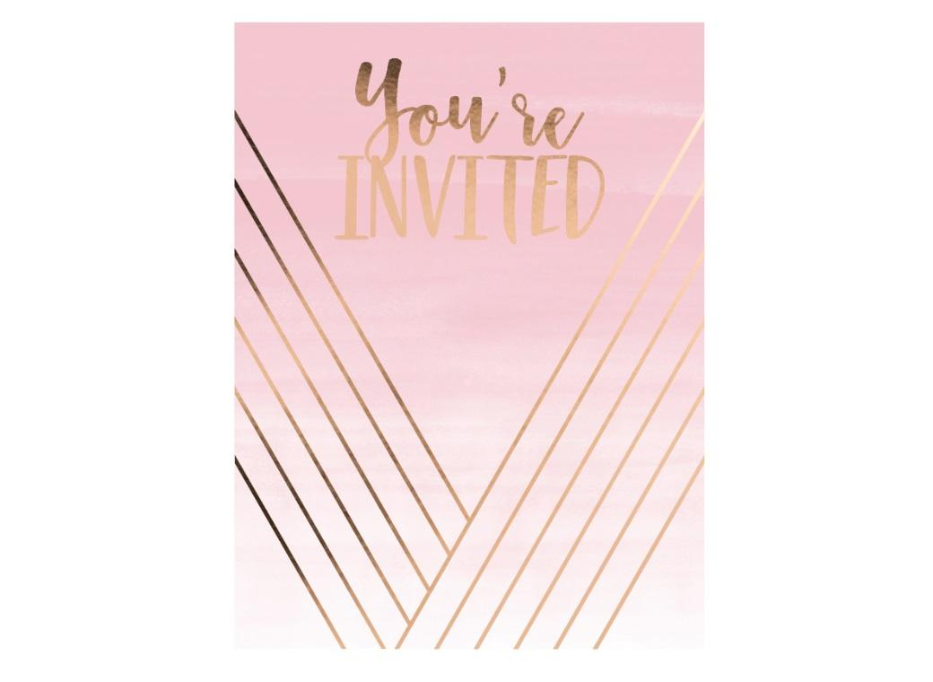 Rosé All Day Invitations 8pk