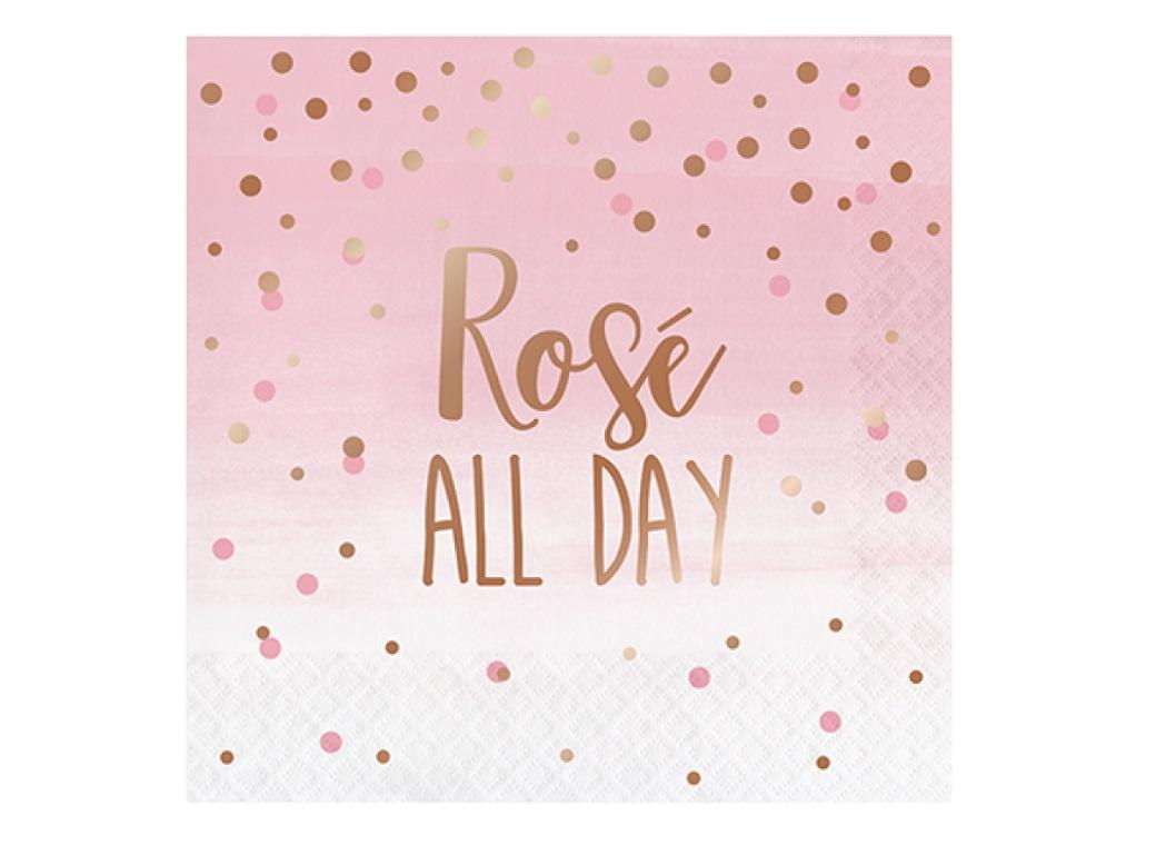 Rosé All Day Lunch Napkins 16pk