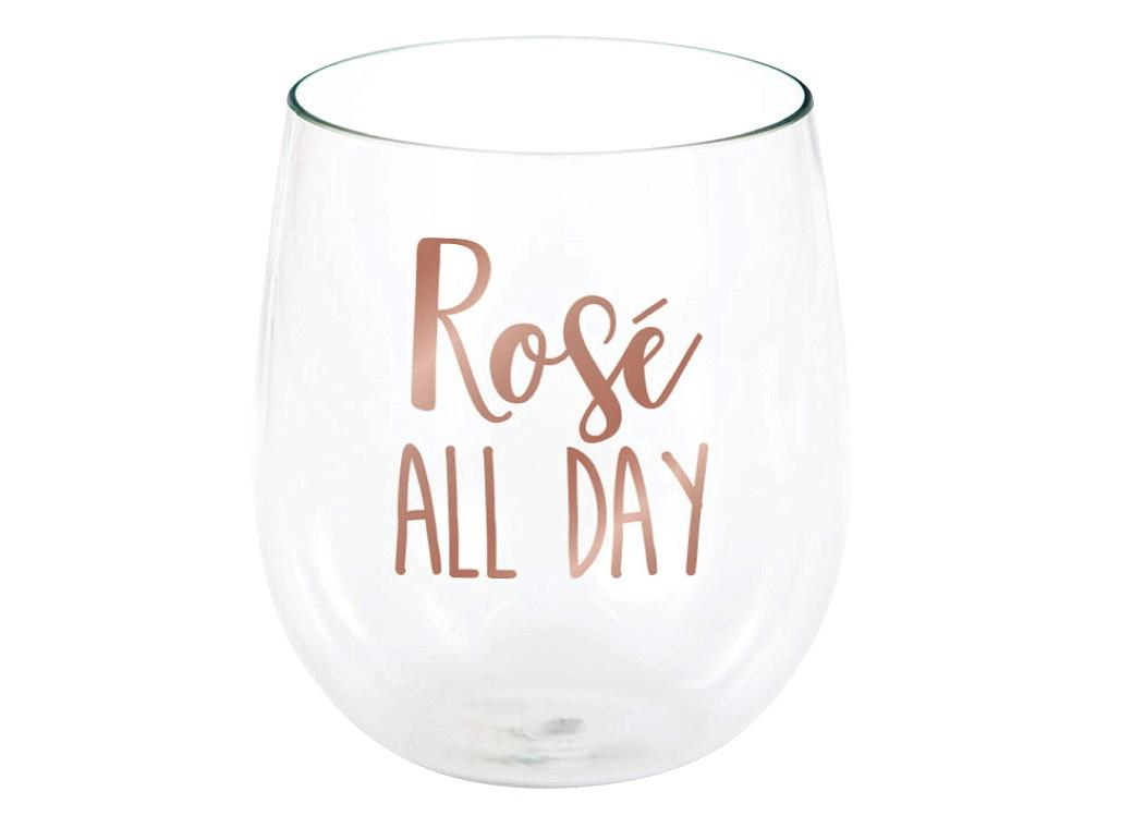 Rosé All Day Plastic Wine Glass