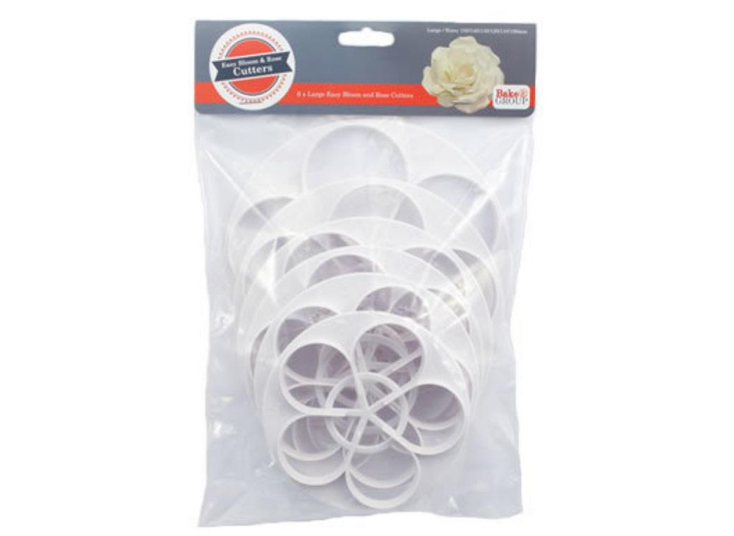 Large Rose Bloom Cutter Set - 6PCE