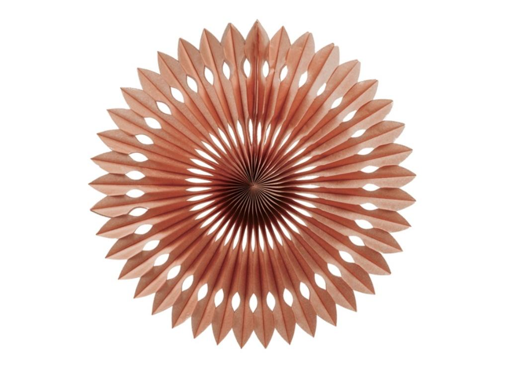 Decorative Fan 40cm - Rose Gold