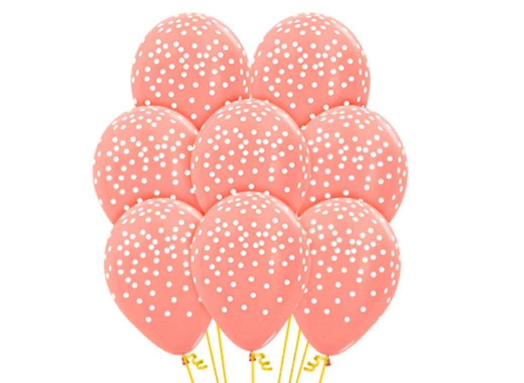 Confetti on Rose Gold Balloons 12pk