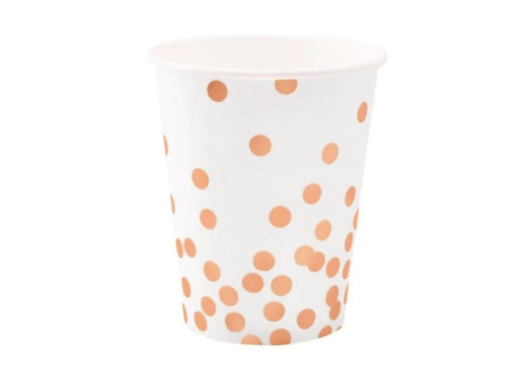 Rose Gold Confetti Cups 10pk