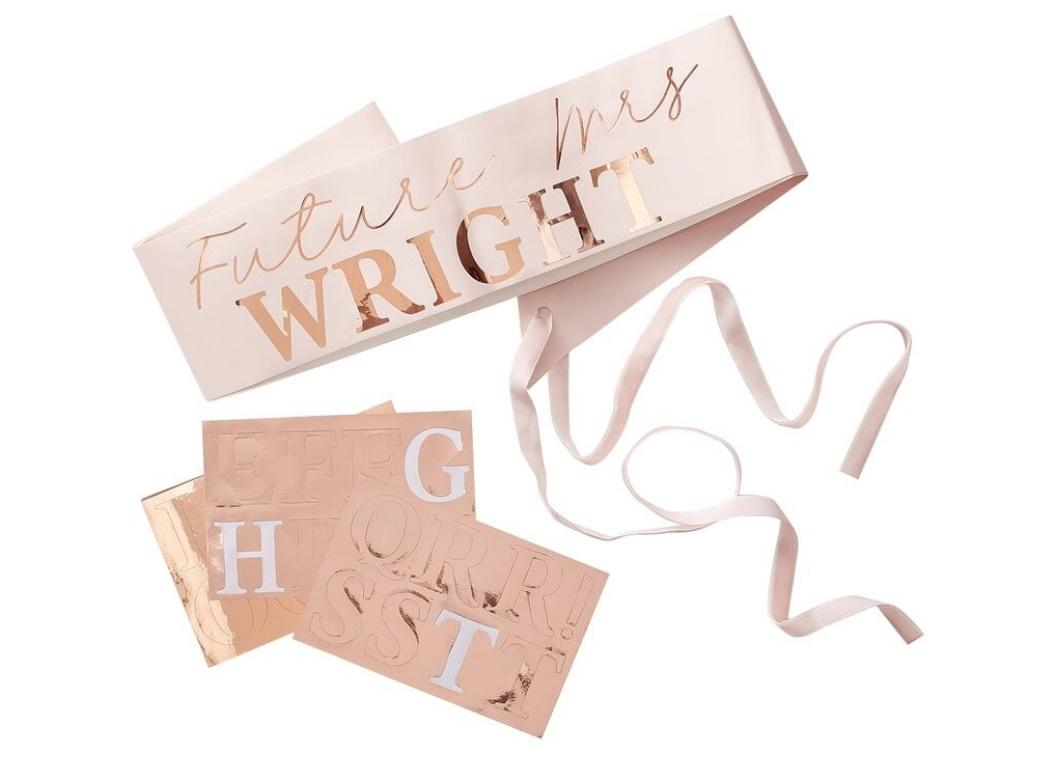 Rose Gold Customisable Bride To Be Sash