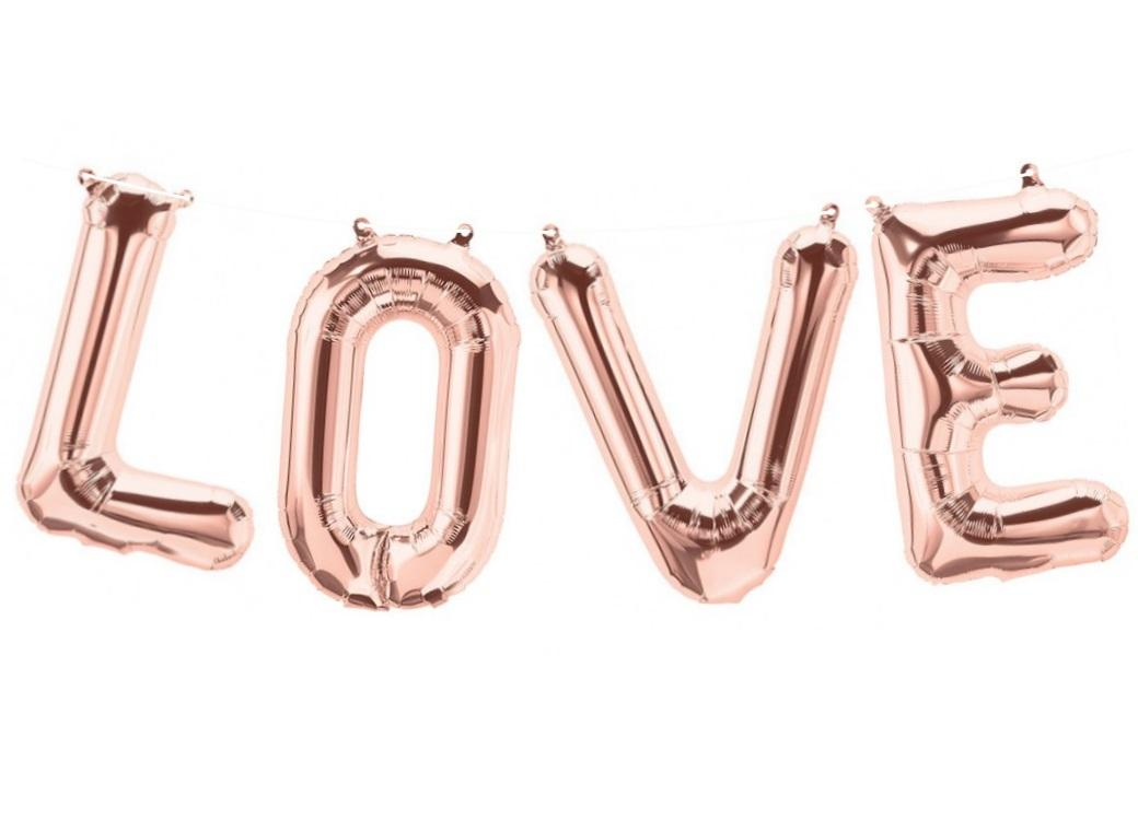 Foil Balloon Kit - Rose Gold Love
