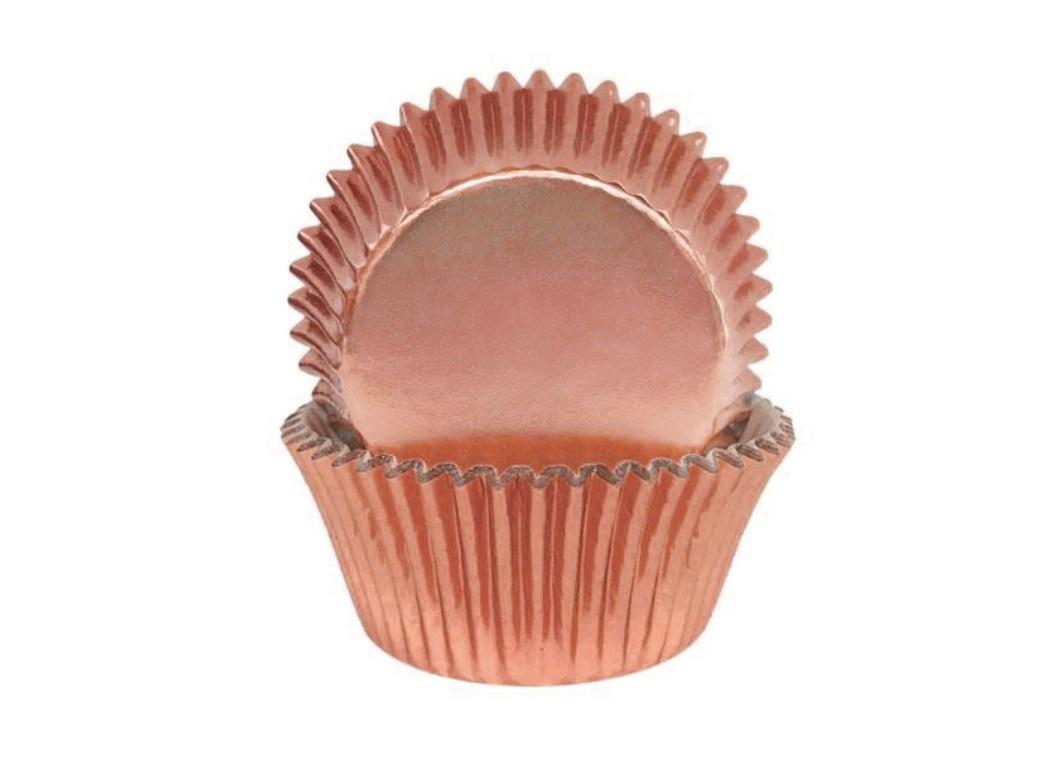 Rose Gold Foil Cupcake Cases 72pk