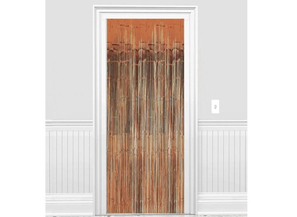 Rose Gold Foil Fringed Door Curtain