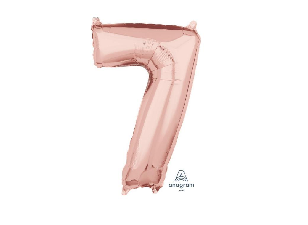 66cm Rose Gold Number Balloon - 7