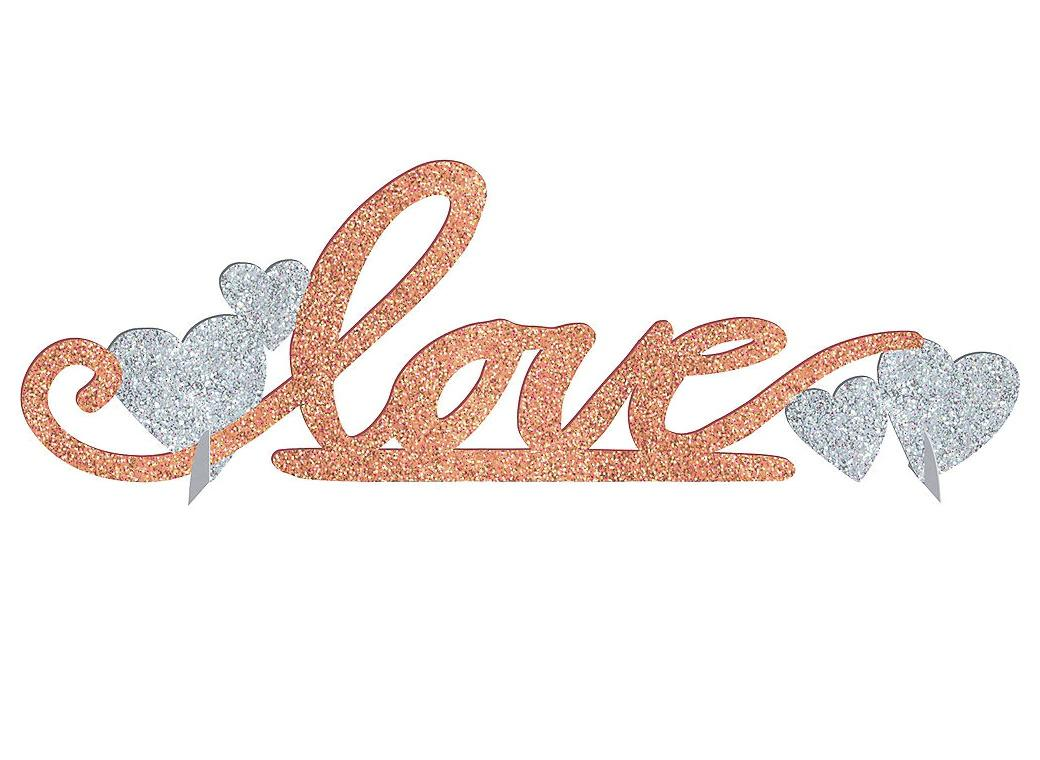 Rose Gold Glitter Love Table Decoration