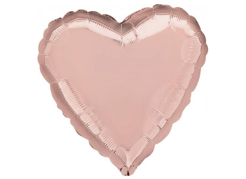 Heart Shaped Foil Balloon - Rose Gold
