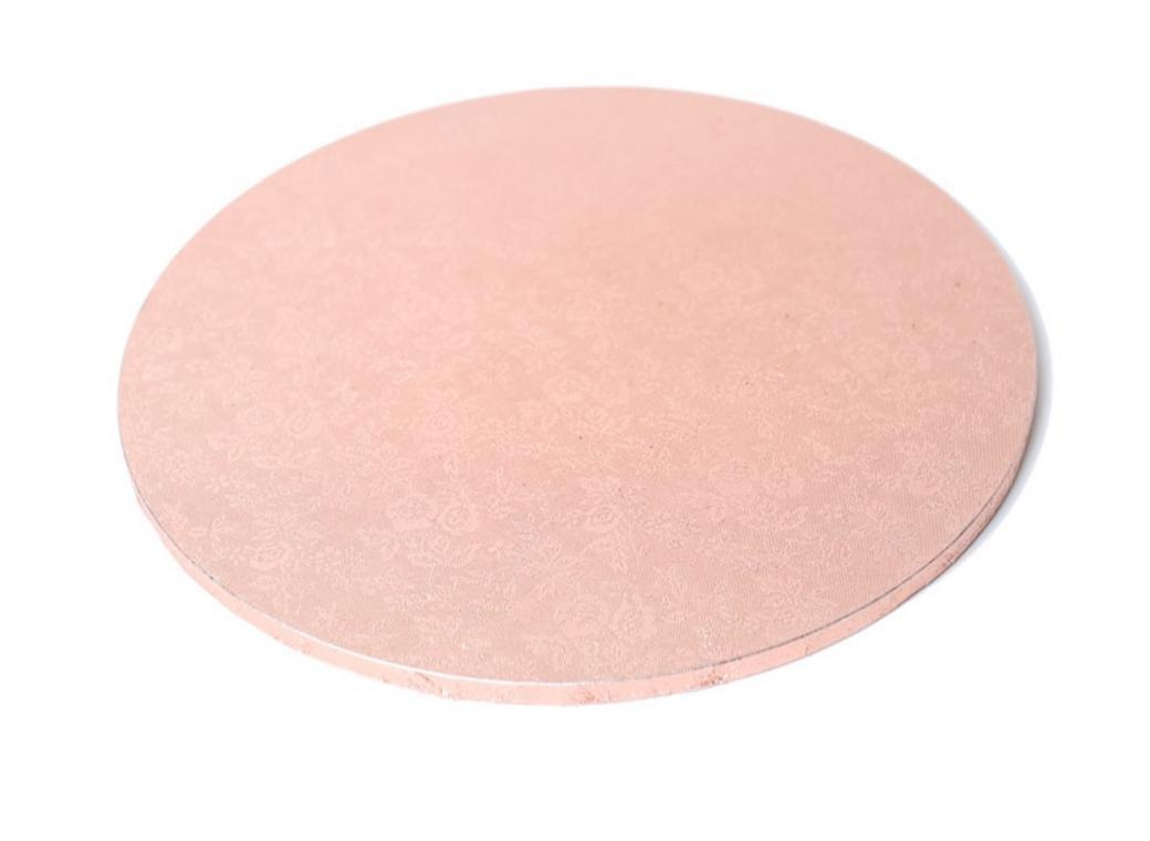 Rose Gold Masonite Cake Board Round 14in