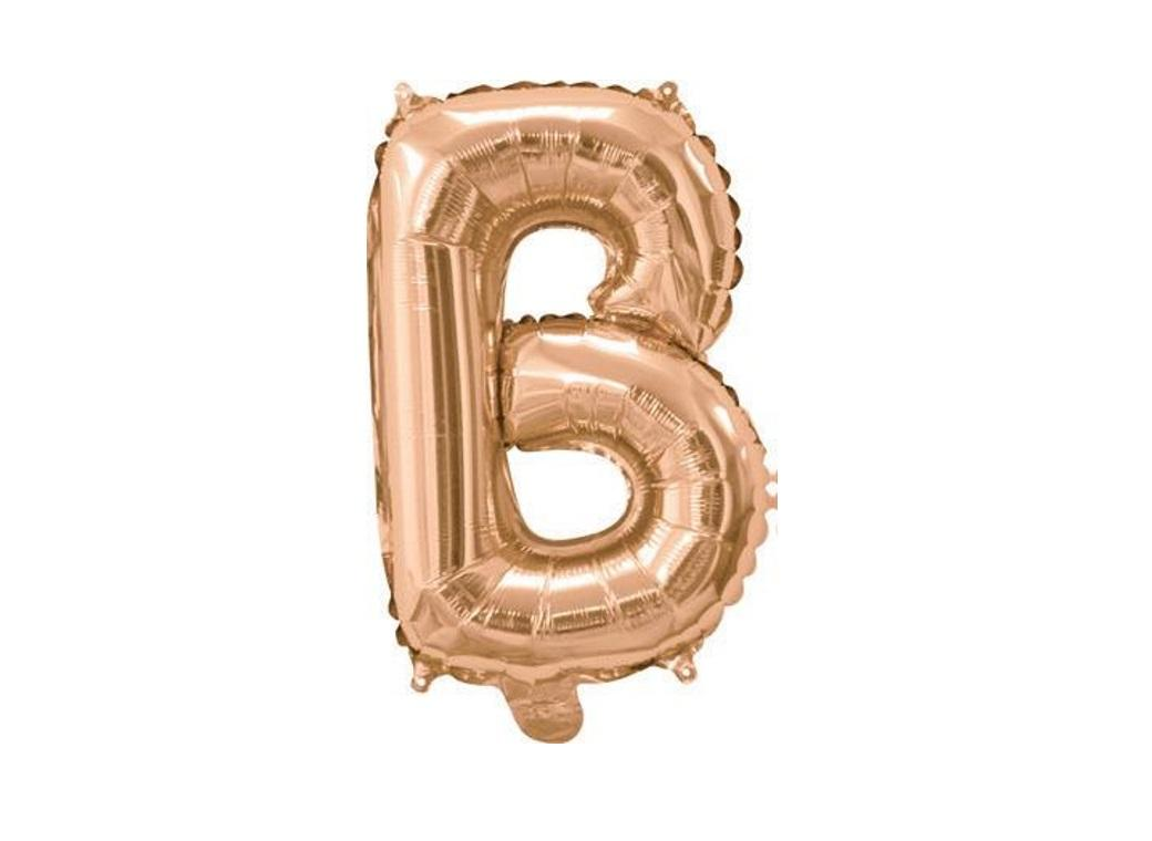 Mini Rose Gold Foil Balloon - Letter B