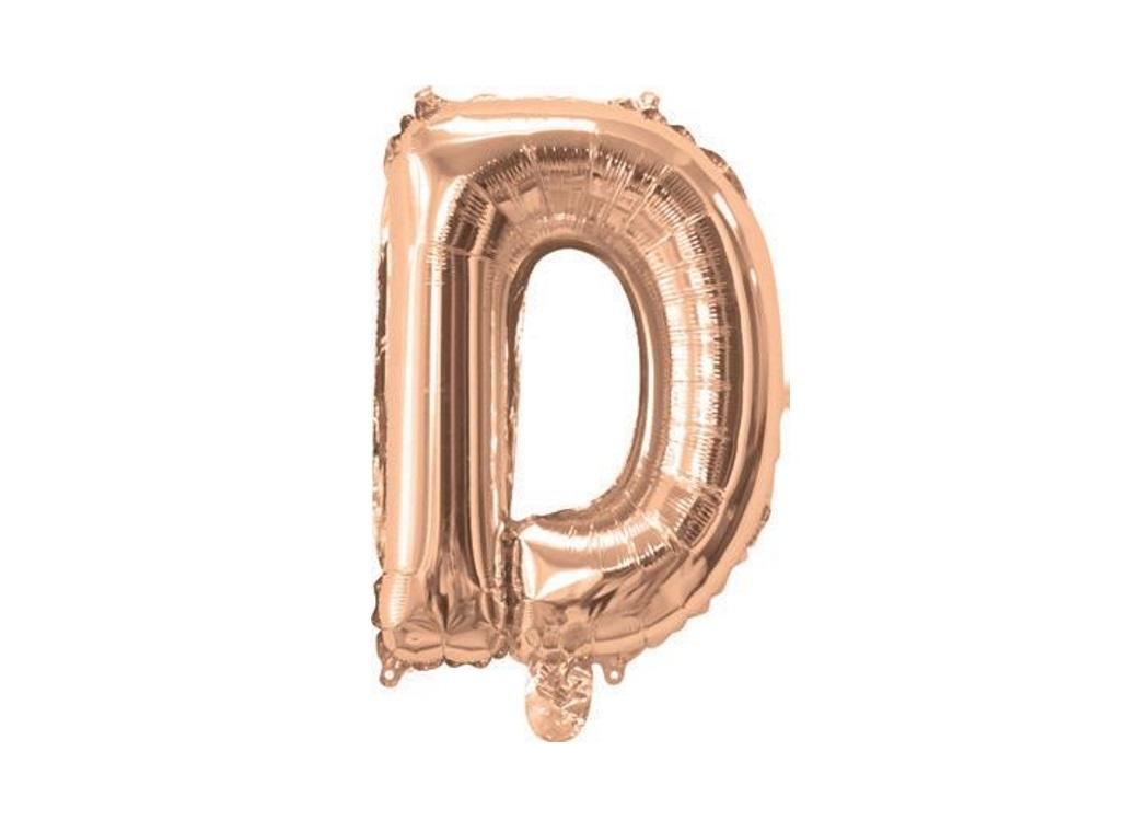 Mini Rose Gold Foil Balloon - Letter D