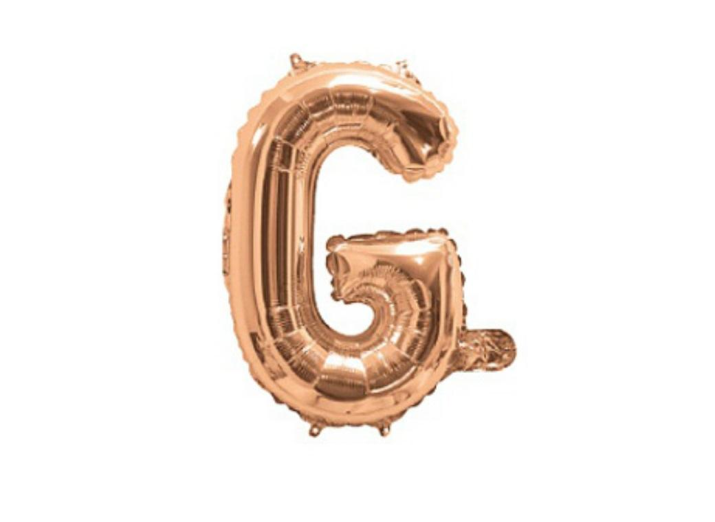 Mini Rose Gold Foil Balloon - Letter G