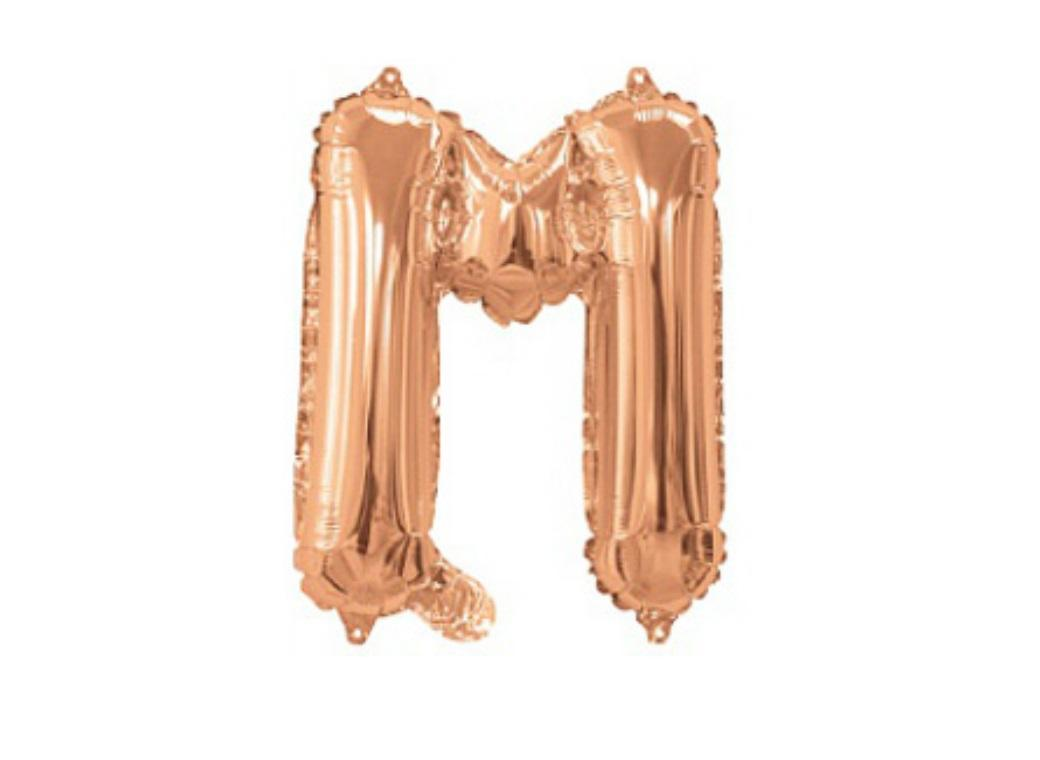 Mini Rose Gold Foil Balloon - Letter M