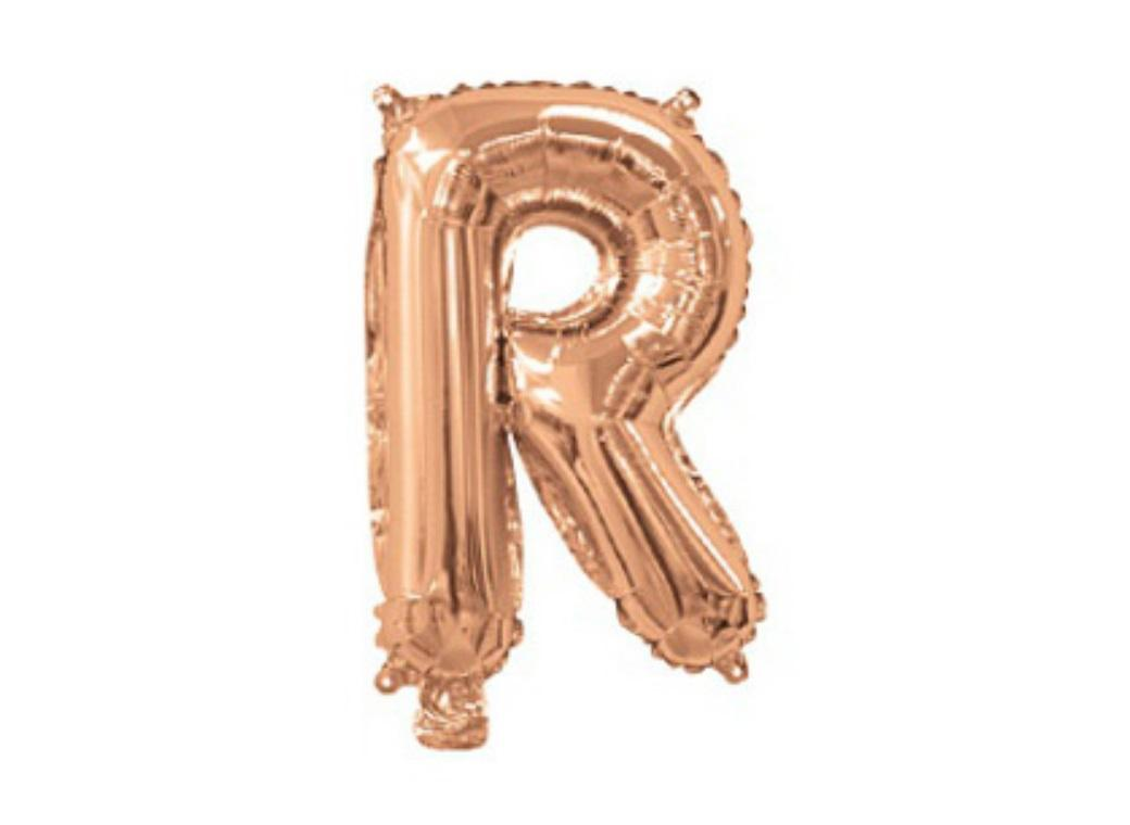 Mini Rose Gold Foil Balloon - Letter R