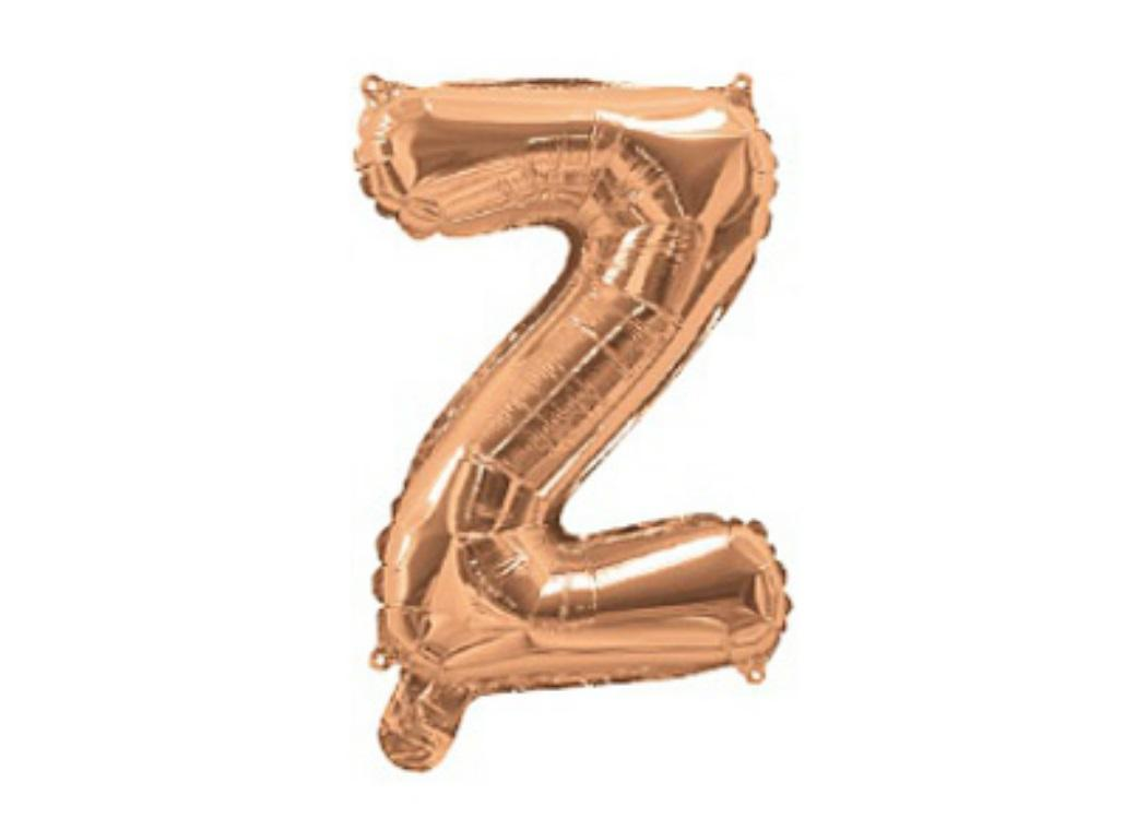 Mini Rose Gold Foil Balloon - Letter Z