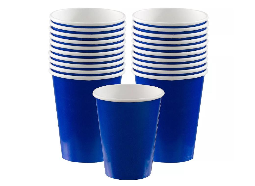 Paper Cups 20pk - Royal Blue