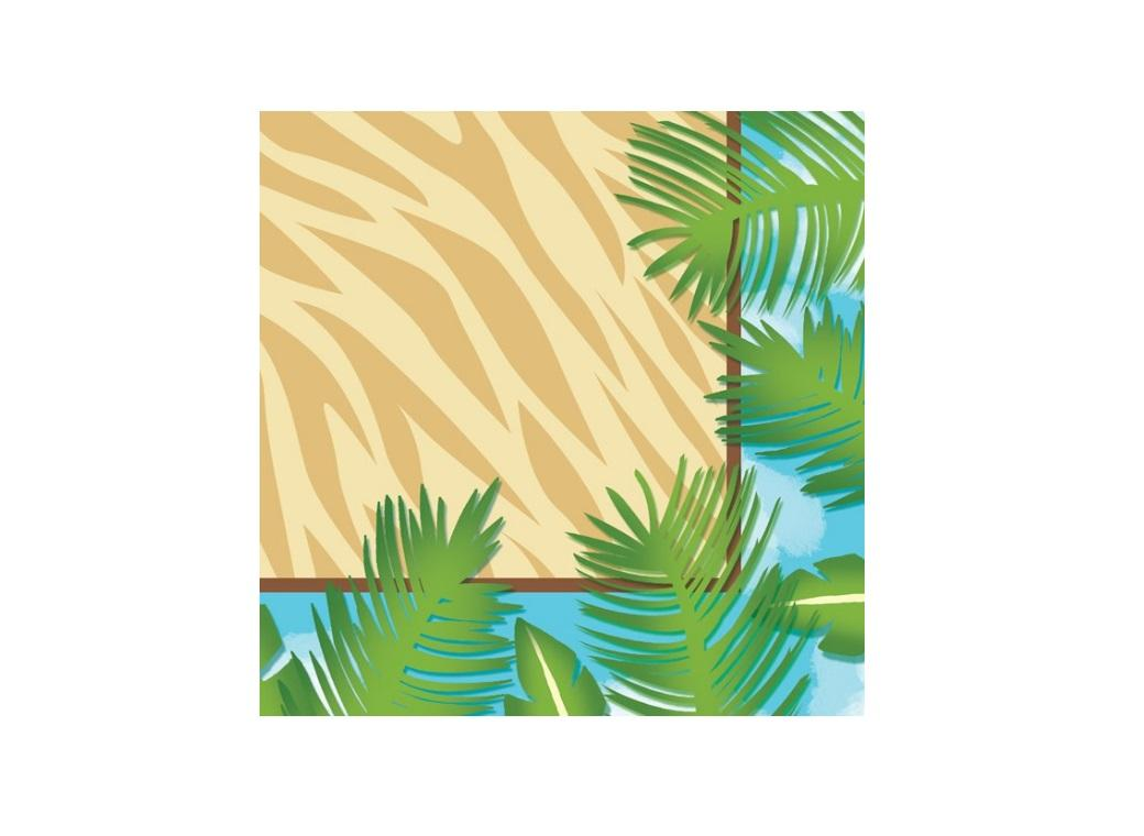 Safari Adventure Beverage Napkins - 16pk