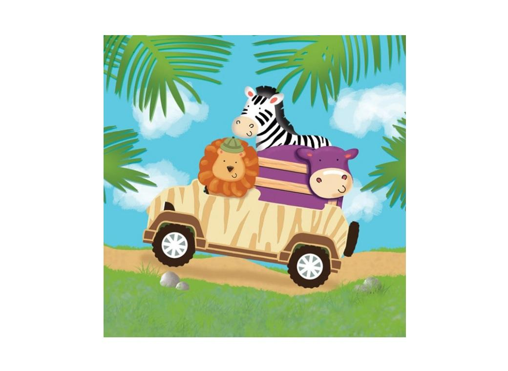 Safari Adventure Lunch Napkins - 16pk
