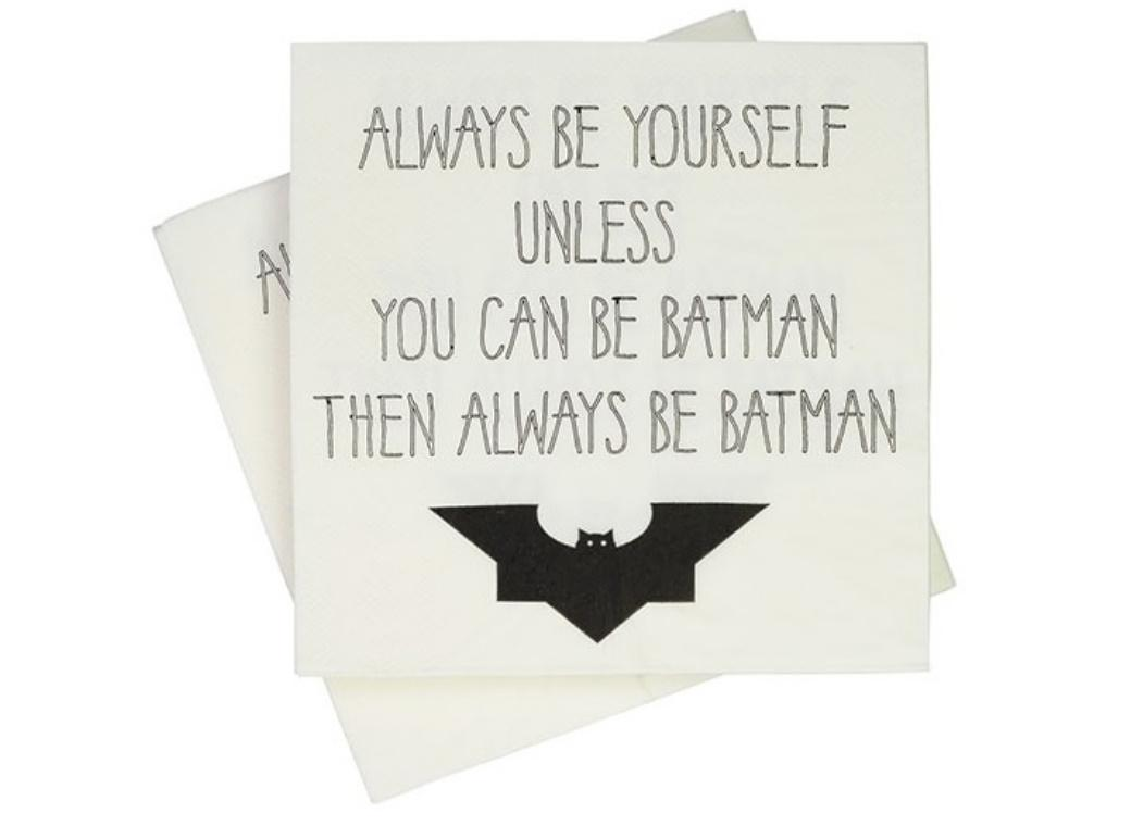 Always Be Batman Lunch Napkins 20pk