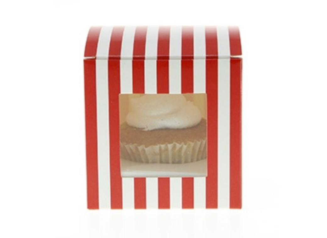 Sambellina Cupcake Boxes 6pk - Red Stripes