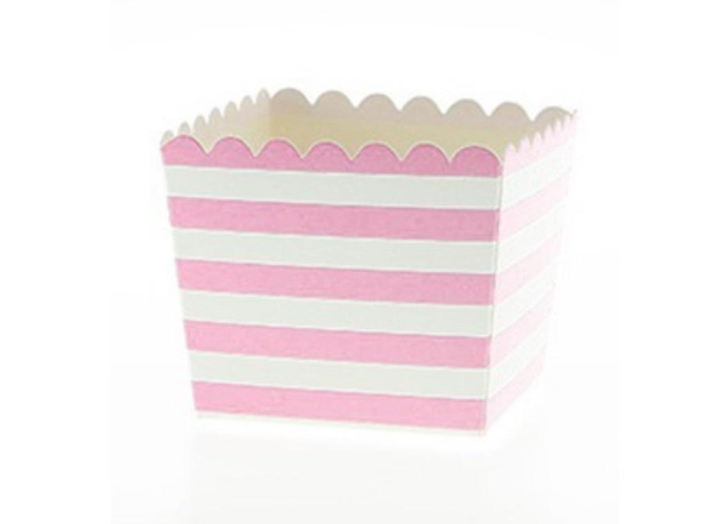 Sambellina Pink & White Stripes Favour Box 6pk