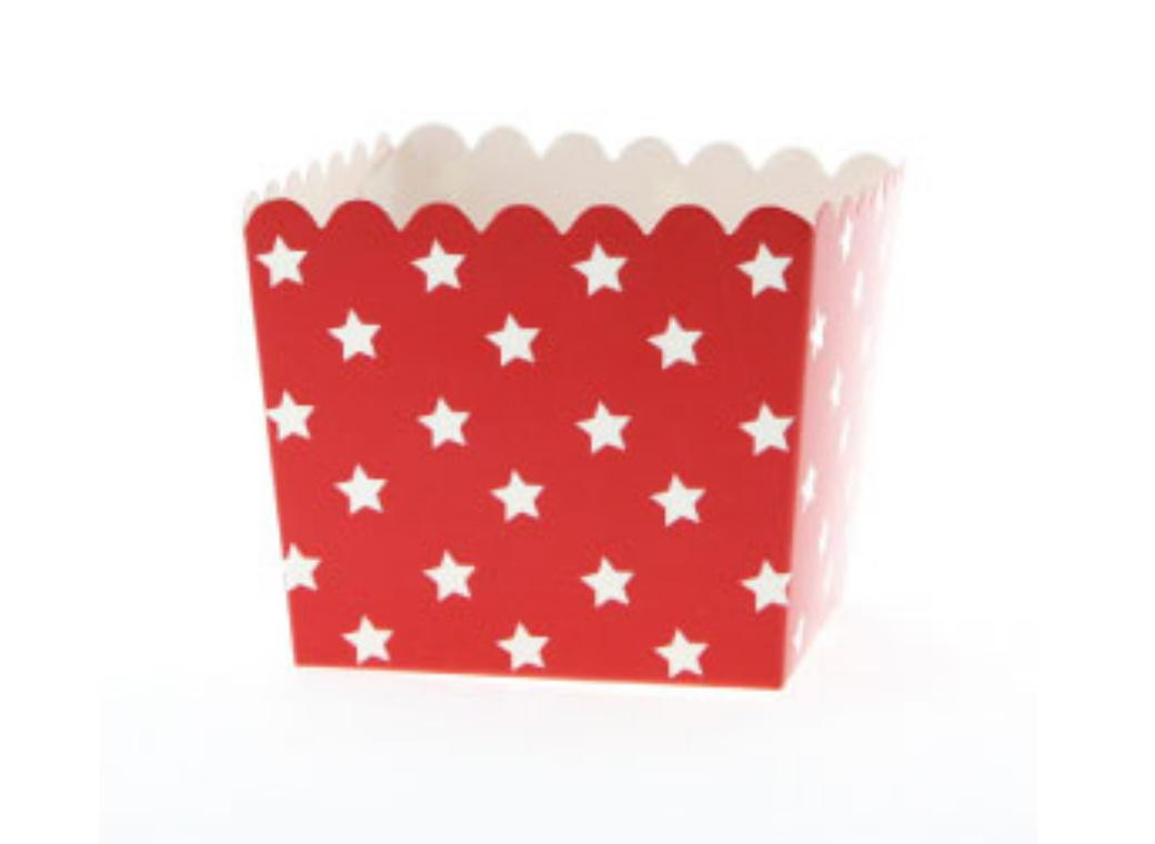 Sambellina Red & White Stars Favour Boxes 6pk