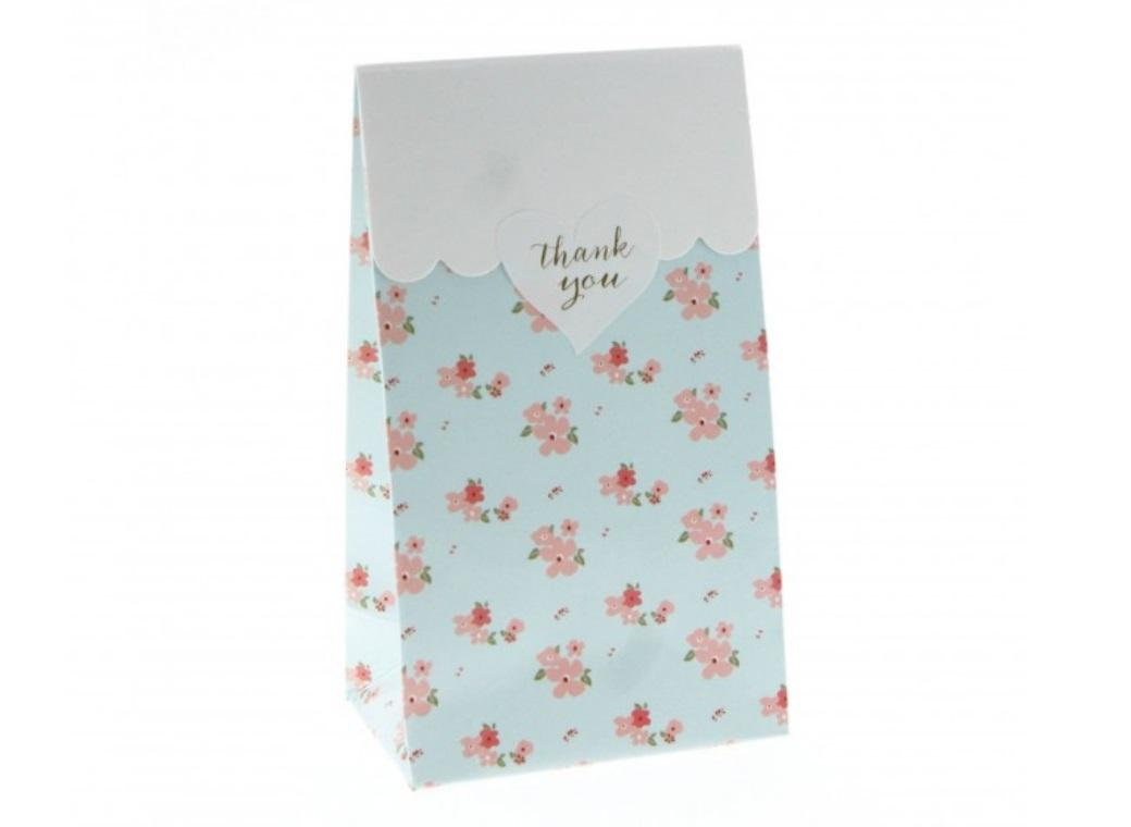 Blue Floral Gloss Treat Bag