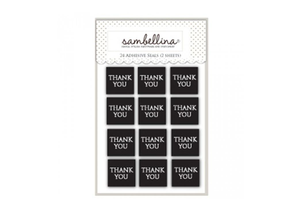 Sambellina Thank You Stickers - Black