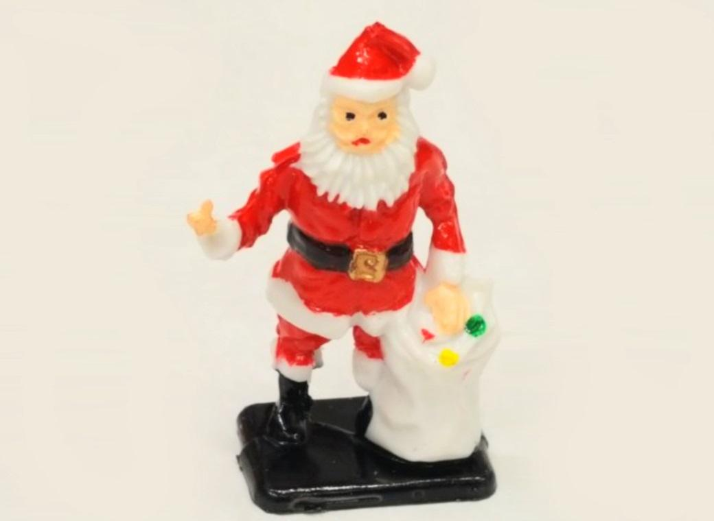 Santa With Gift Bag Cake Topper
