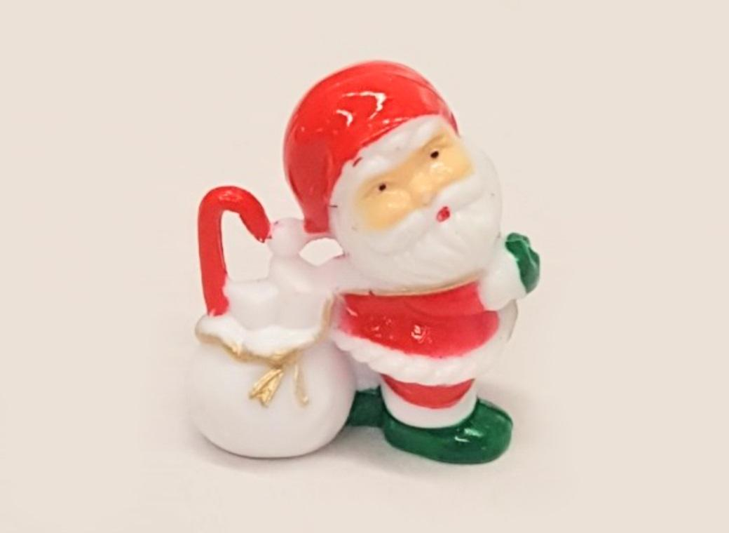 Santa With Toy Bag Cake Topper