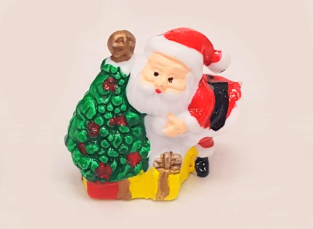 Santa With Tree Cake Topper