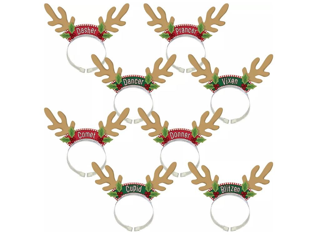 Reindeer Headbands 8pk