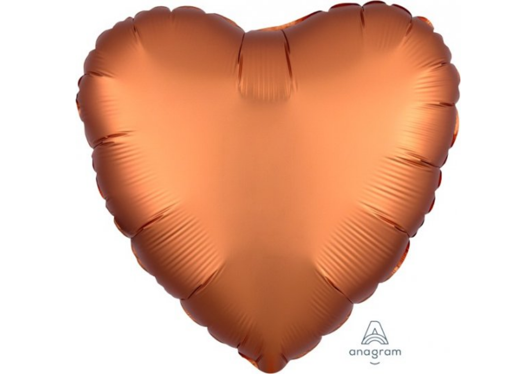 Heart Shaped Foil Balloon - Satin Luxe Amber